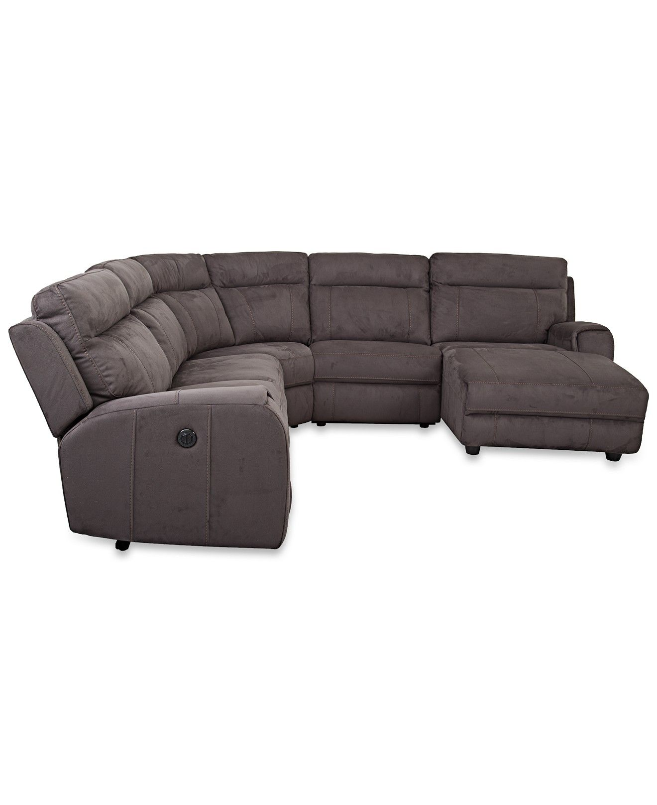 Caruso Leather 5 Piece Power Motion Sectional Sofa Beds Portland Oregon Torie With 2 Recliners