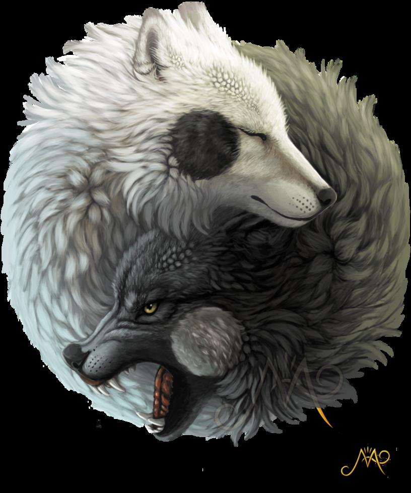 13fc08a63 Yin Yang wolves by Sunima.deviantart.com on @DeviantArt   tattoos ...
