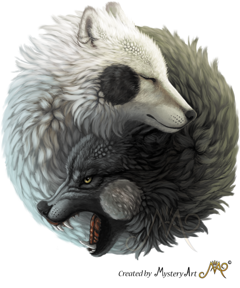 Yin Yang Wolves By Sunima Deviantart Com On Deviantart Yin Yang Art Yin Yang Wolf Yin Yang Tattoos