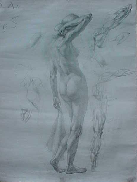 Рисунки карандашом девушек в х со спины