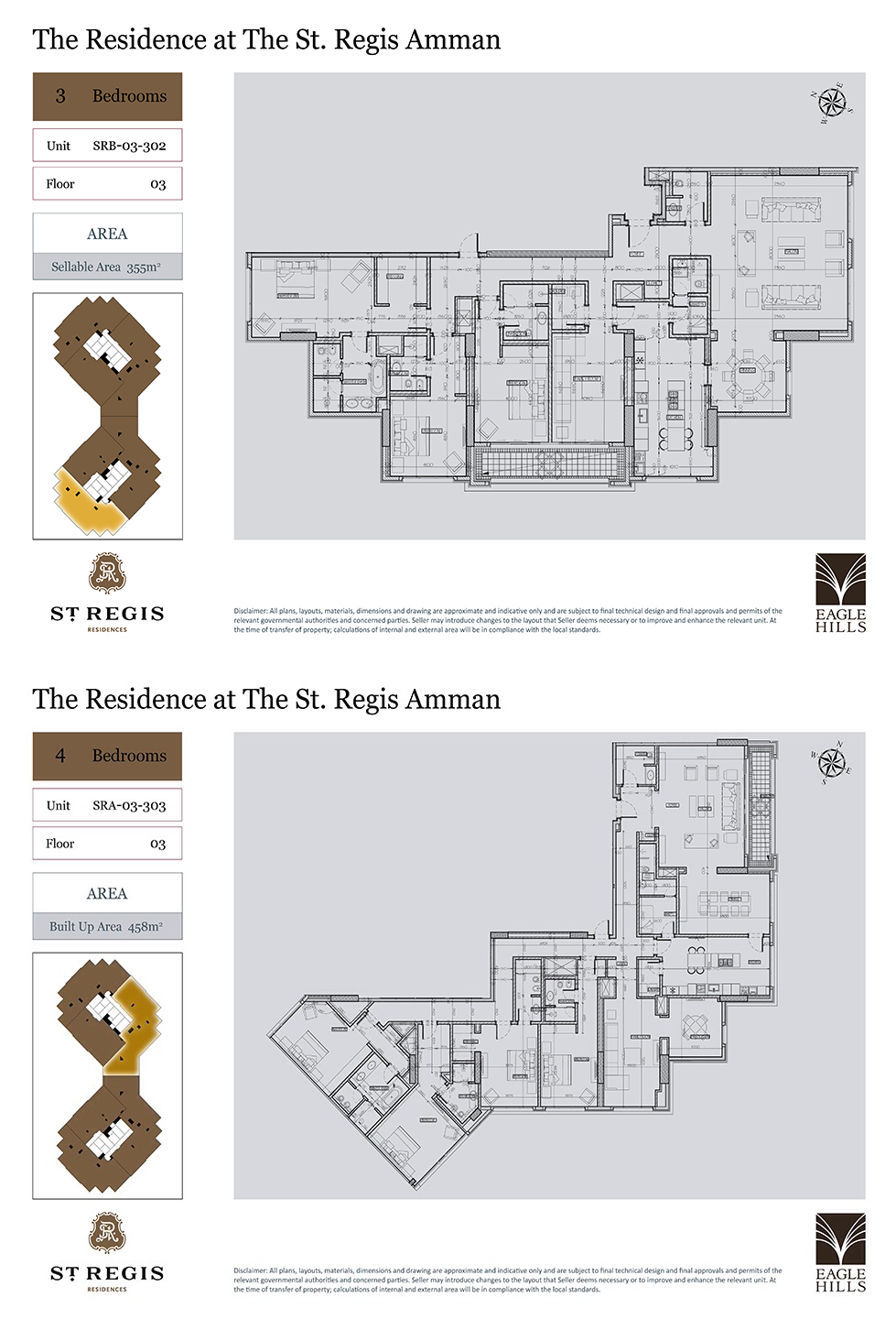 The Residence At The St Regis Amman St Regis The Unit 4 Bedroom Apartments