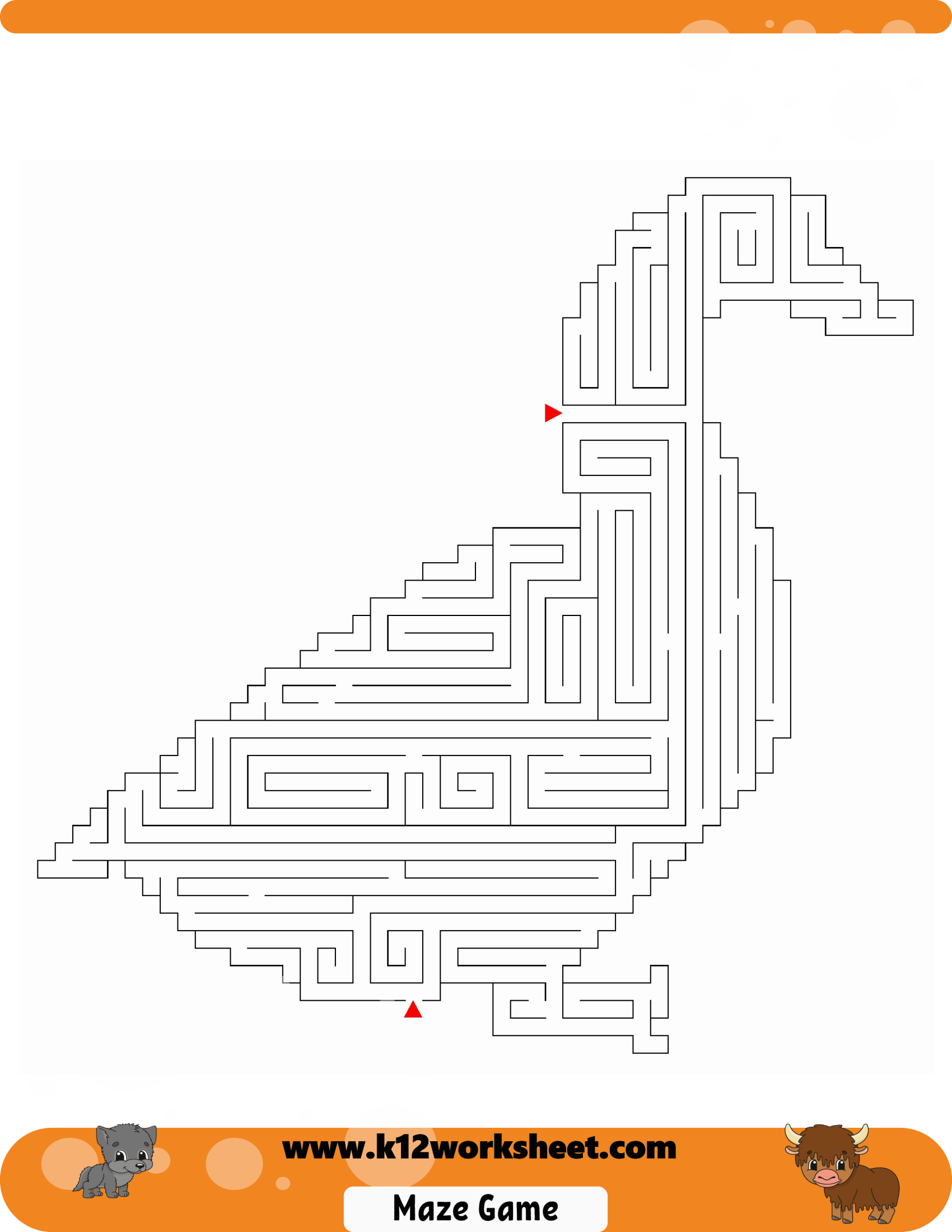 Duck Maze For Kids Mazes Are Really Fun And A Good Way To