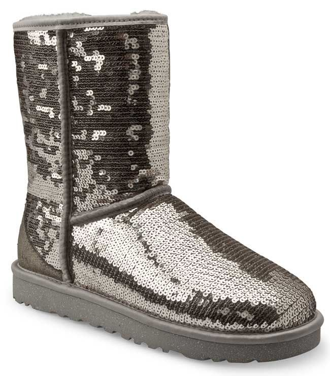 a31621e8e3d Sparkly Boots | Ugg Boots Womens Classic Short Black Sparkle Sequin ...