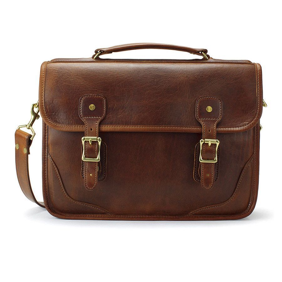 5cac47b8d3b J. W. Hulme Co. Brief Bag, American Heritage Brown Leather   Products