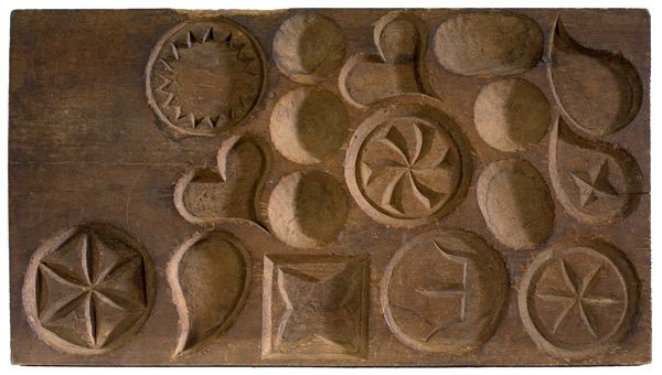 Maple sugar candy molds carved from wood