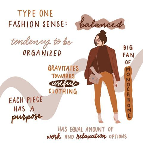 """Cami's Art on Instagram: """"This is a fun series I've started: Fashion sense of an enneagram! Let's start with the organized type one🧡 • Tag your fashionable type one…"""""""
