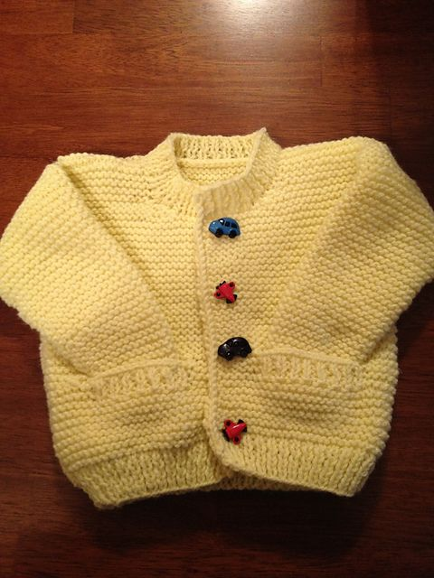 1e6b345f685a Simple Style Baby Cardigan and Hat pattern by Lion Brand Yarn ...