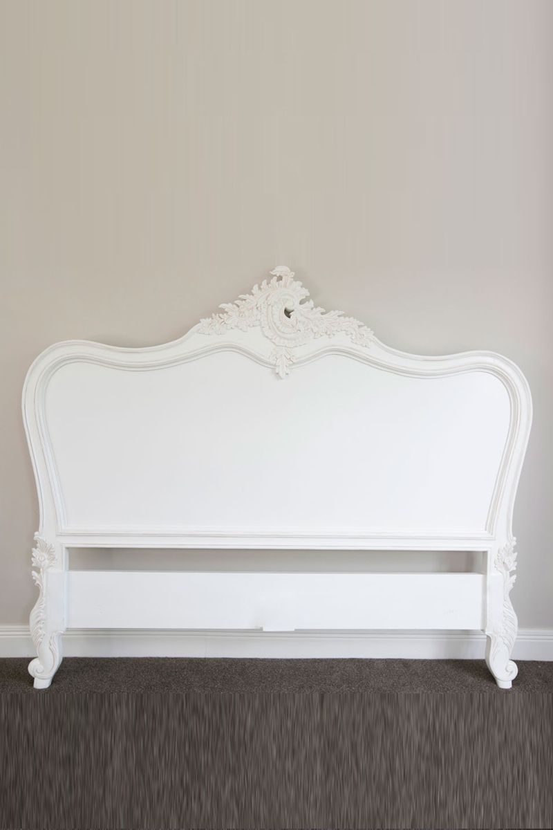 Pre order provençal classic headboard antique white king size