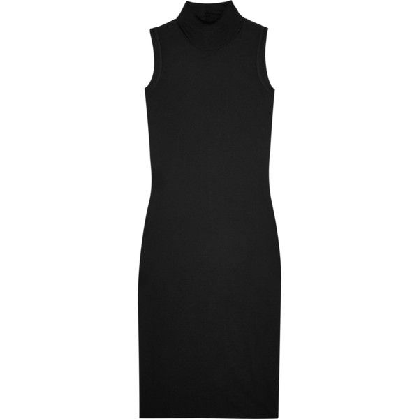 Rick Owens Jersey turtleneck dress (2.635 NOK) ❤ liked on Polyvore featuring dresses, rick owens dress, rick owens, polo neck dress, turtleneck top and grunge dress