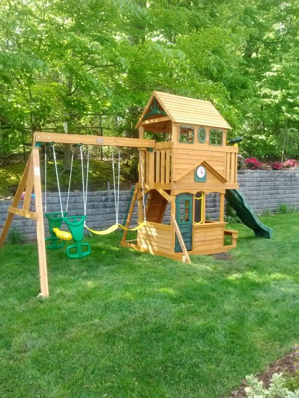 Big Backyard Ashberry Playset Installed In Bergen Nj Swingset