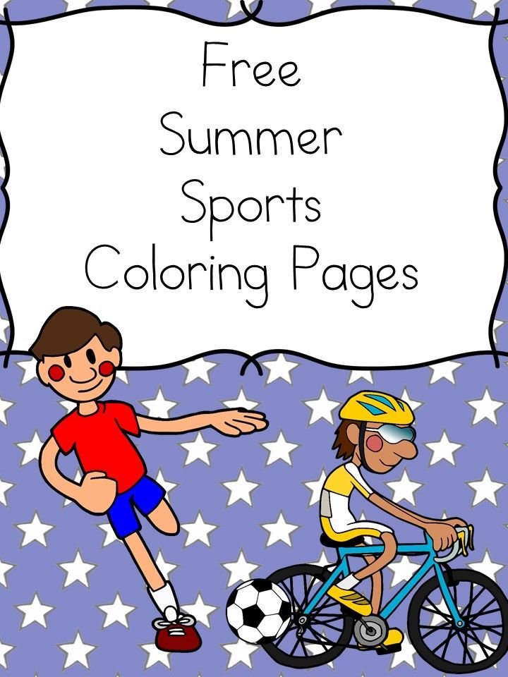 Summer Sports Coloring Pages | Free fun, Kindergarten and Homeschool