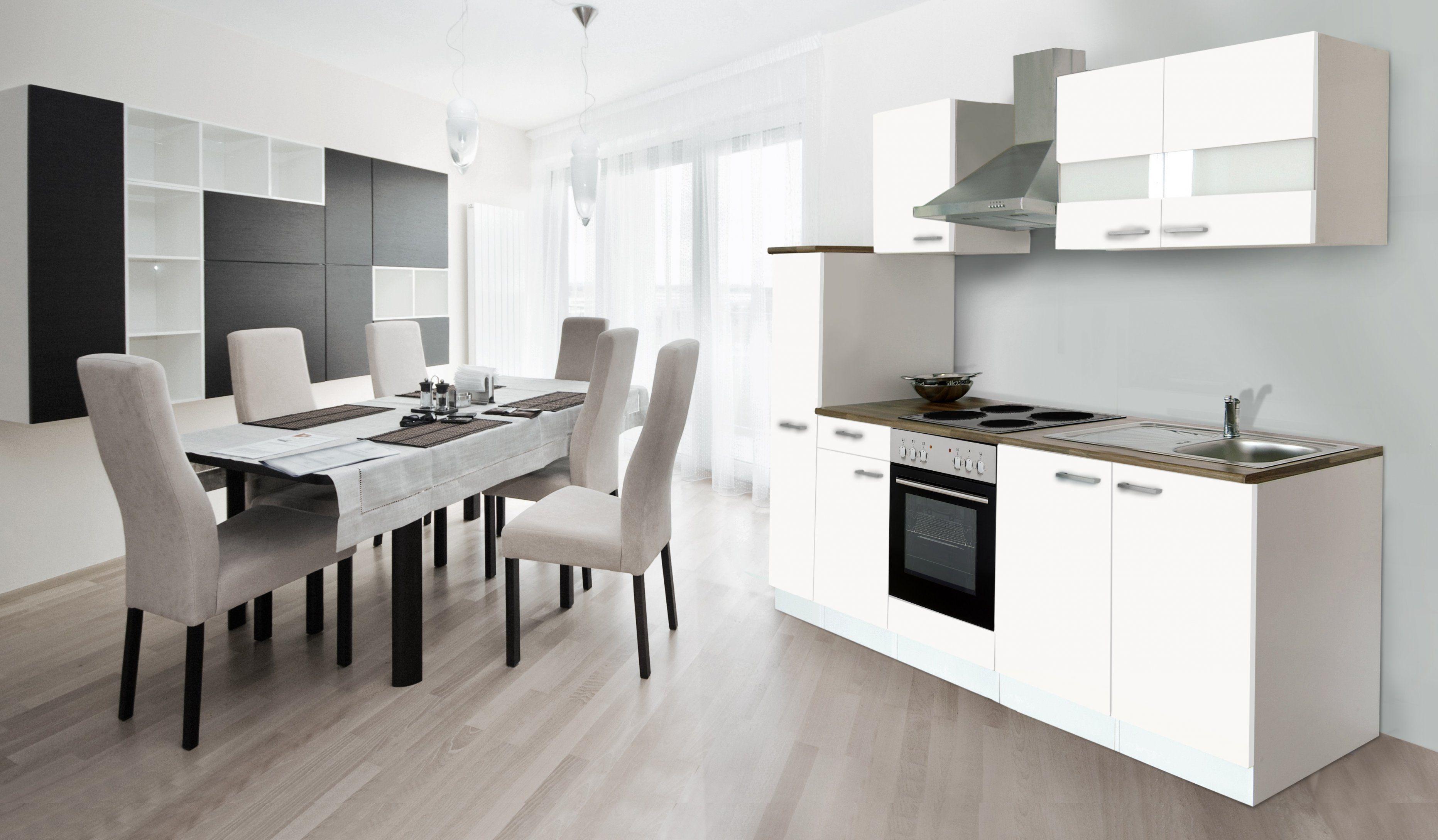 Kuchenzeile 240 Cm Mit Kuhlschrank Kuchenzeilen Kleiner Kuchentisch Kleiner Tisch Und Stuhle