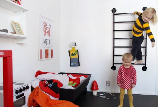 wall ladder - so they can actually climb the walls!