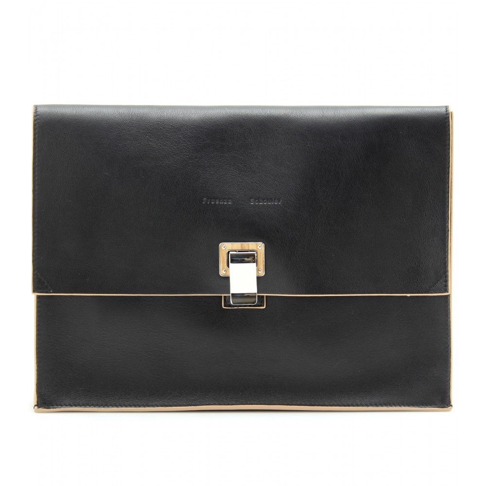 LARGE LEATHER LUNCH BAG  seen @ www.mytheresa.com
