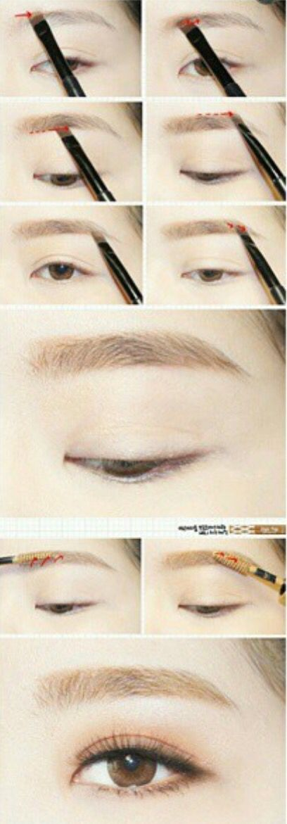 The one eyebrow with a blunt but not very thin eyebrows, this looks like a straight line. Do not bend the face The length of the queue is very long and no long queues on the trail. If you do not want to trim too dull to use Eye Brow Kit or eyebrow powder. Instead of using an eyebrow pencil I will make my eyebrows look more natural.