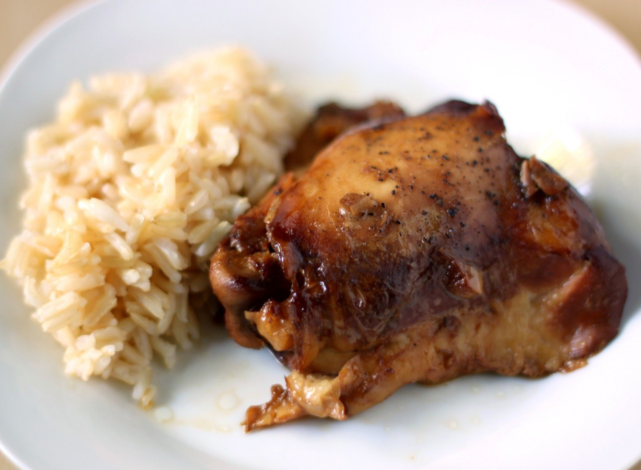 Slow cooker chicken adobo with rice 52kitchenadventures.com