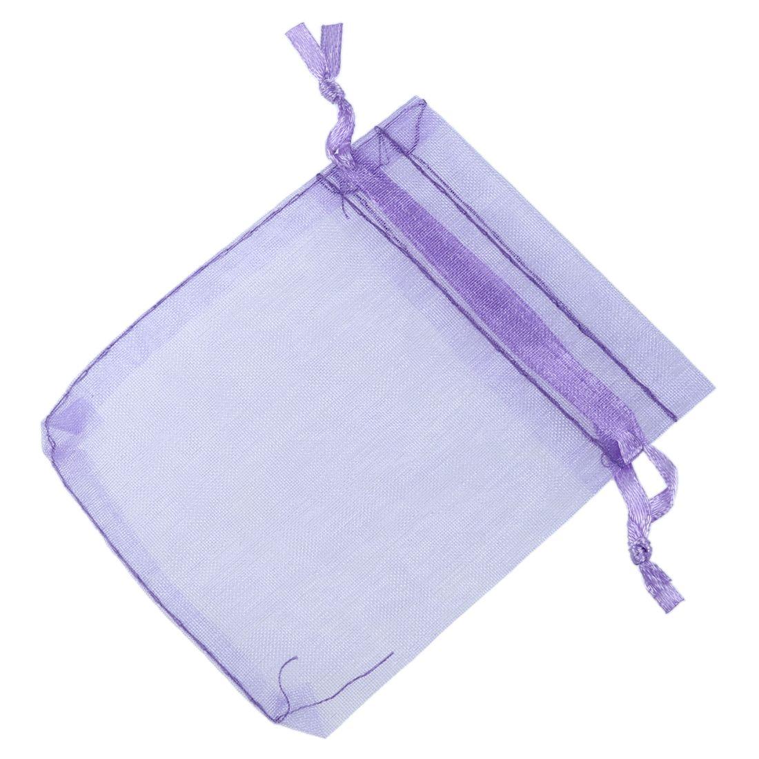 100 Light Purple Organza Wedding Favour Candy Bags Jewellery Organza