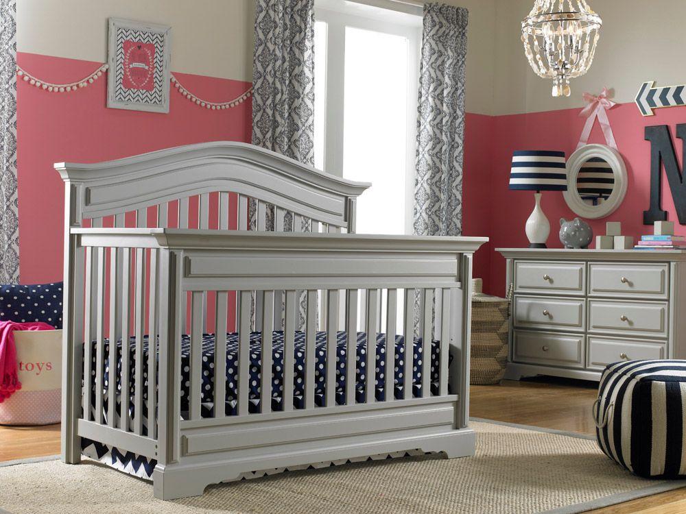 Dolce Babi   Venezia Collection Convertible Crib - Misty Grey Finish ...