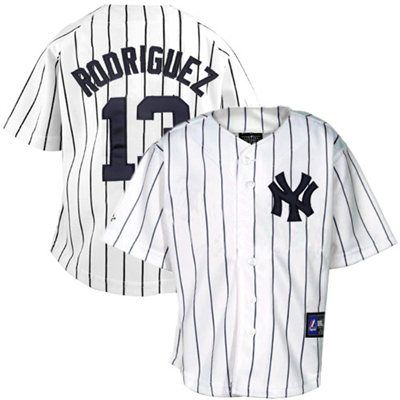 Majestic Alex Rodriguez New York Yankees  13 Infant Pinstripe Player  Replica Jersey - White 5efa926bc