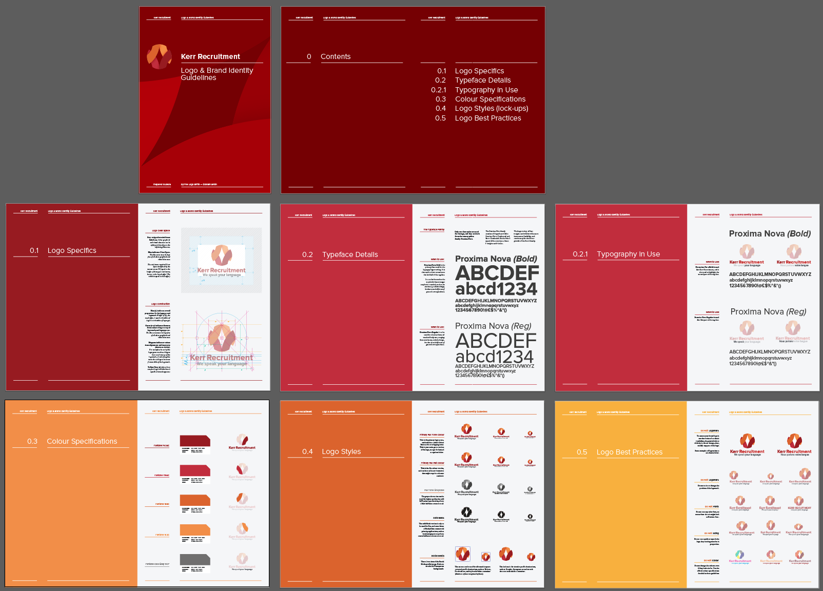 Logo Guidelines Poster Template for Free Download by (With