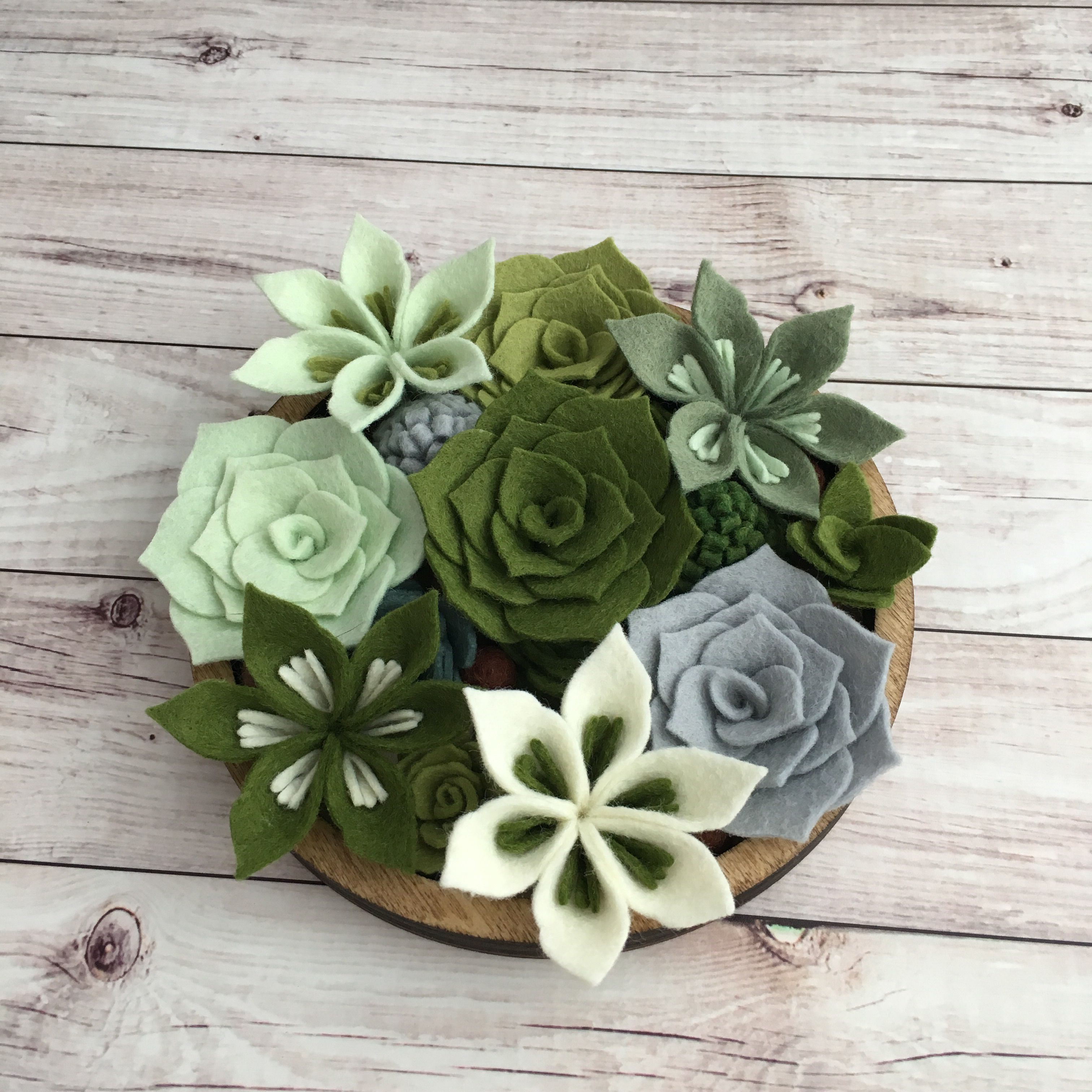 These felt succulents are good with one , with two, with a