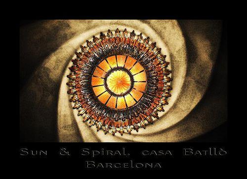 Sun & Spiral, casa Batllò, Barcelona by el_mo, via Flickr