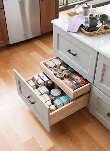 Medallion At Menards Cabinets | Base Drawers With Hidden Drawers