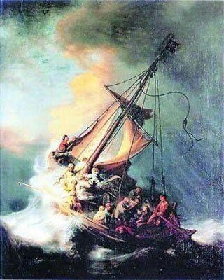 La Tormenta En El Mar De Galilea De Rembrandt Rembrandt Rembrandt Van Rijn Rijn