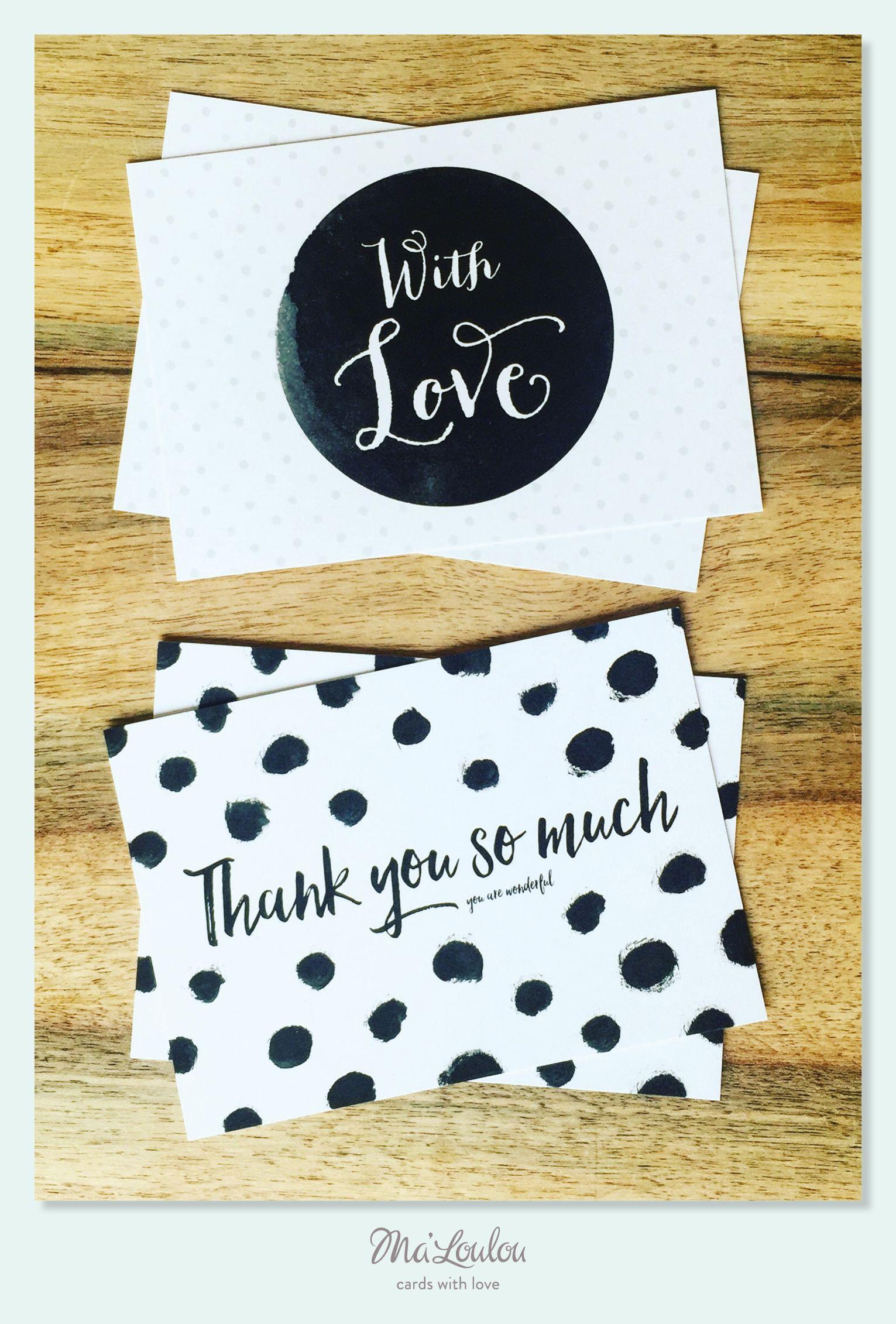 Einfach Danke sagen! #postkarte #with love #danke #merci #