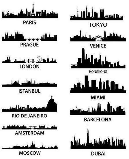 skylines around the world #selbstgemachtezimmerdeko