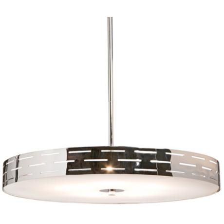 Artcraft seattle 16 wide chrome pendant light w4339 lamps plus