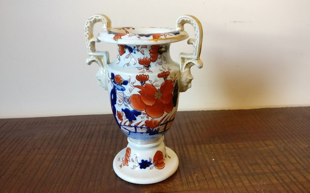 Ironstone Vase Early 19th Century Circa1840 Probably Masons In