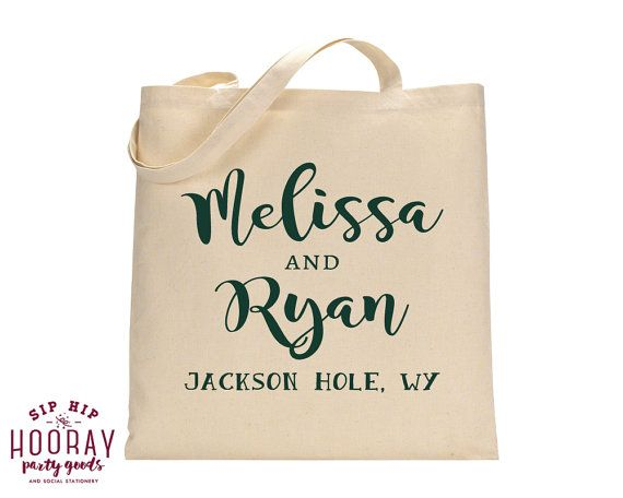 Welcome Totes Party Gift Bags Fall Wedding Tote Canvas Favor