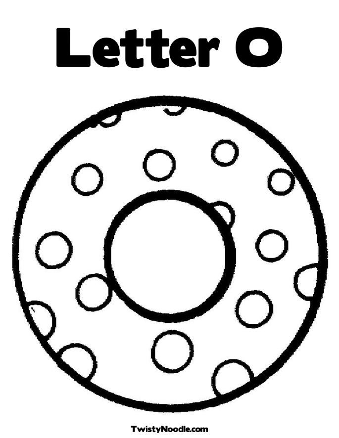 letter o coloring pages Letter O Coloring Page   Letter O Dots   Twisty Noodle | January  letter o coloring pages