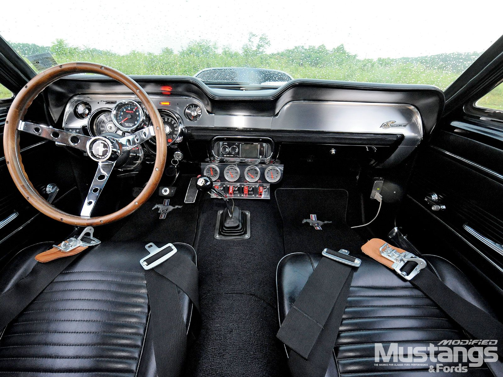 1967 ford mustang interior i cannot stand the standard front seat console and needless gadgetry not the best example with all these gauges