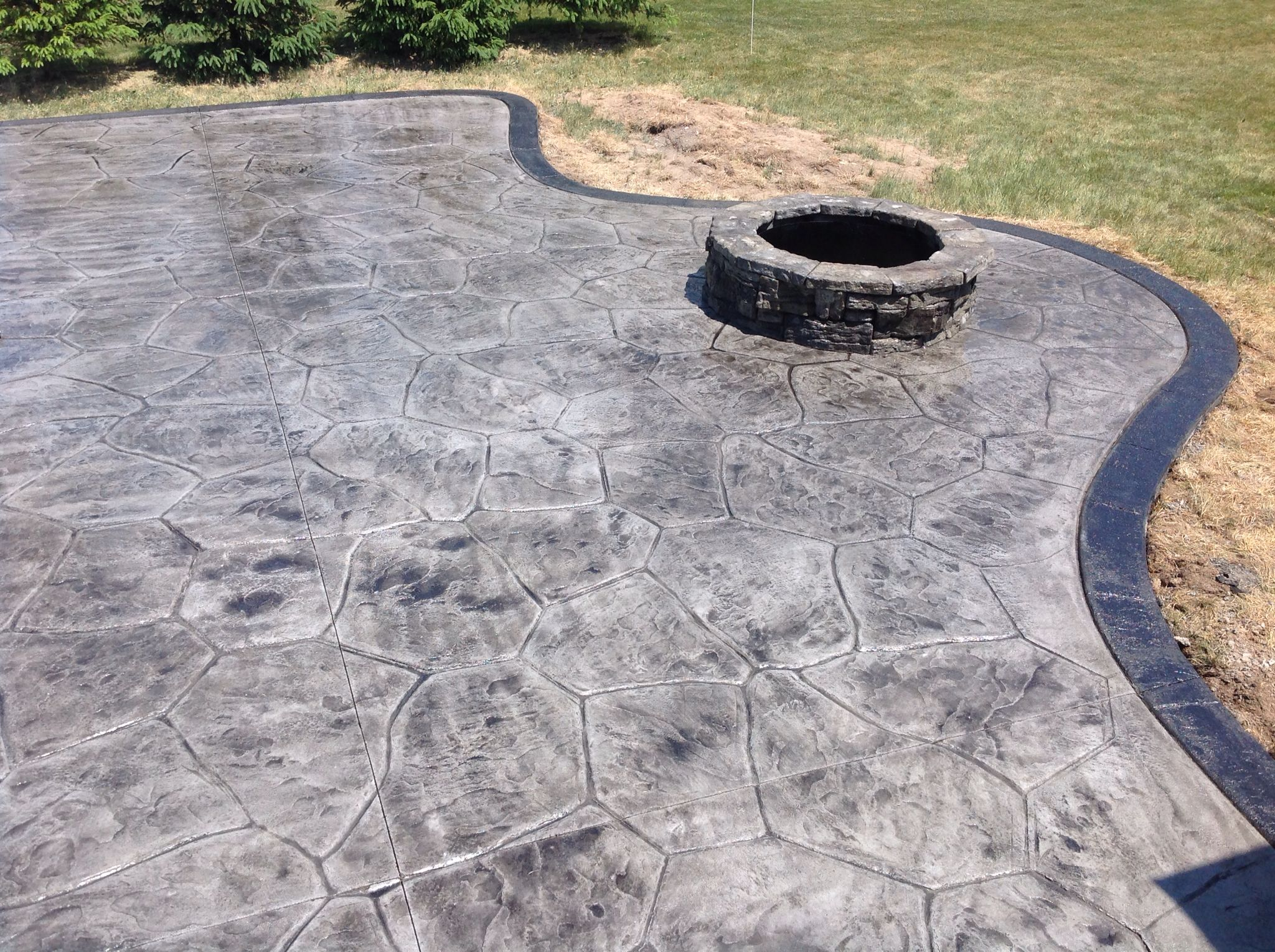 Avon New York Livingston County Stamped Concrete Patio With