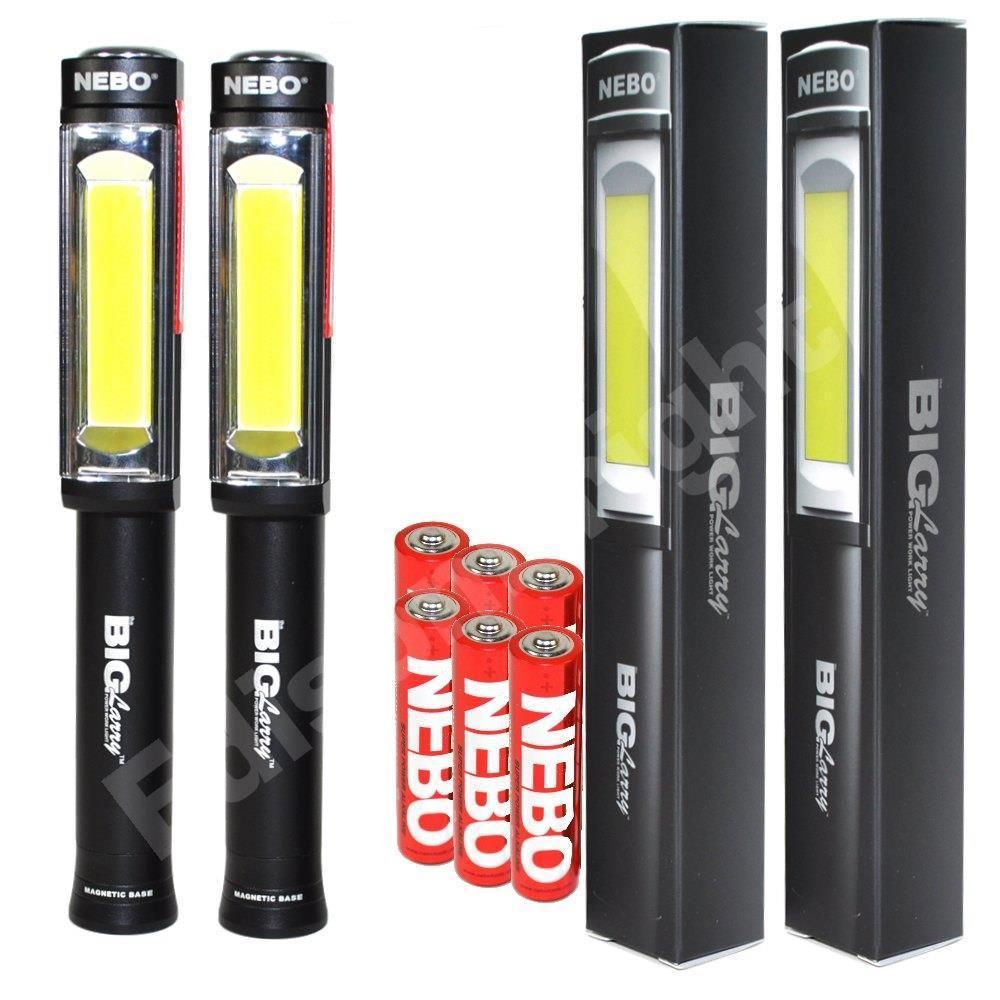 2 PACK NEBO 6306 Big Larry 400 Lumen COB LED Work Lights w/6X AA Batteries https://t.co/b9NQpviO2y https://t.co/bY9pgXuGYY