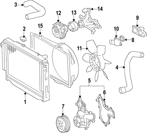 Cooling System Radiator Components For 2007 Toyota Tundra 1 In 2020 Toyota Tundra 2007 Toyota Tundra Toyota