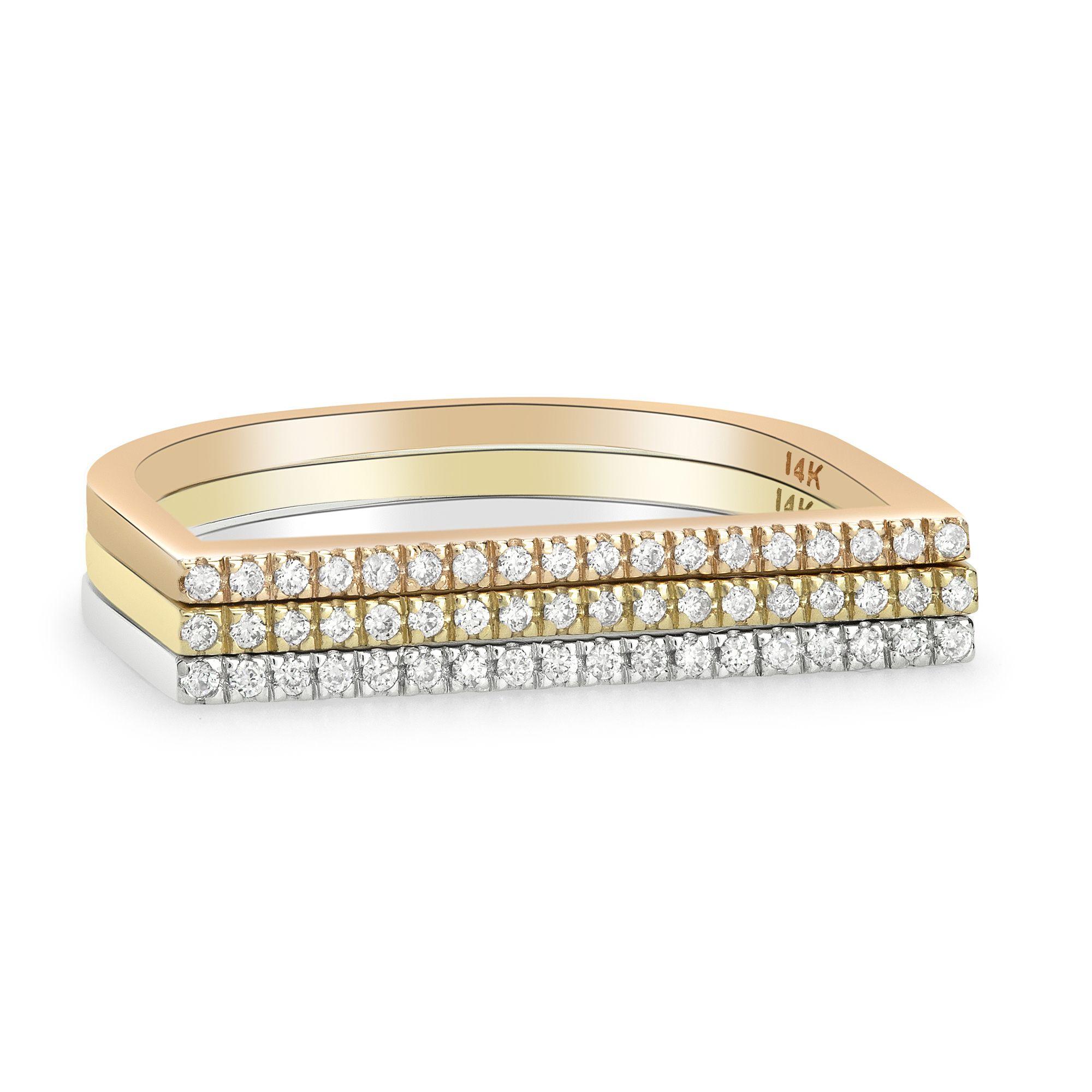 White Gold Yellow Gold Rose Gold Wedding Ring Diamond Etsy Wedding Rings Rose Gold Wedding Ring Diamond Band Diamond Rings Bands