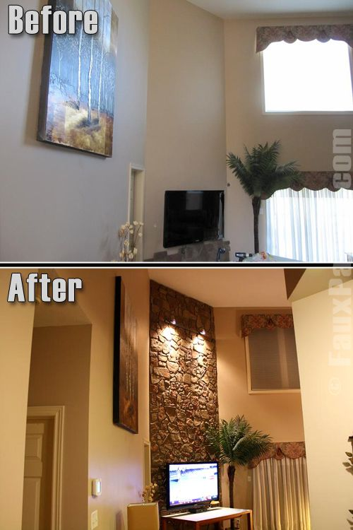 accent wall ideas installing stone veneer over brick on accent wall ideas id=94230
