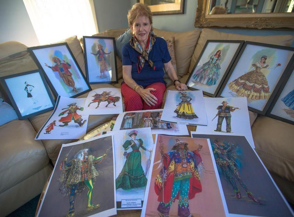 Marilyn Sotto Costume Designer Walt Disney Co Classic Films Sketches