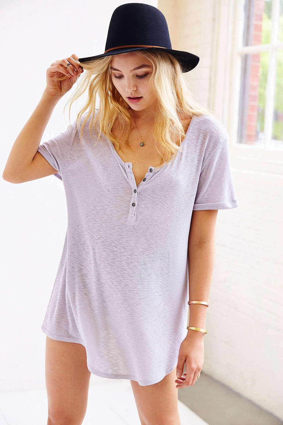 62611a4fe3a7 Truly Madly Deeply Henley Tunic Top - Urban Outfitters   buy list ...