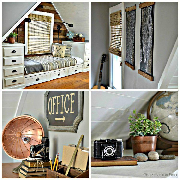 Rustic & Industrial Dormer Bedroom Reveal Remodel