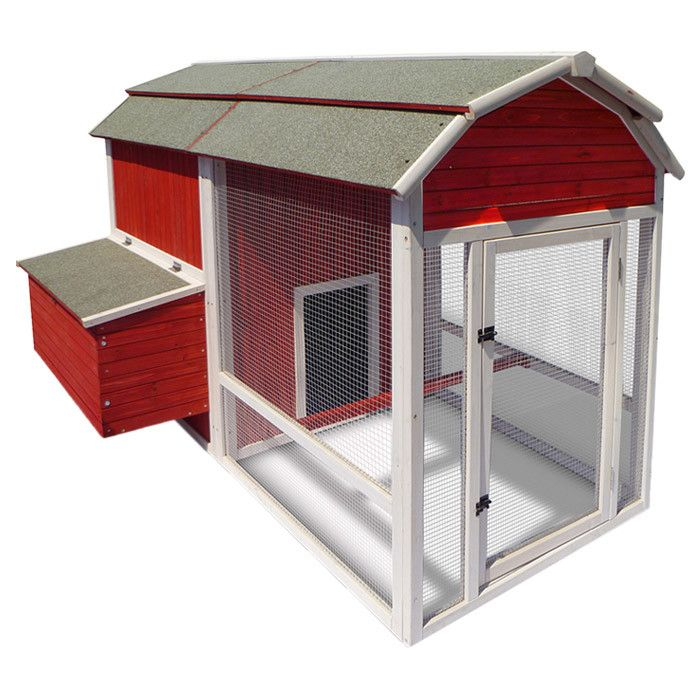 Red barn chicken coop for really fresh eggs in my for Red chicken coop