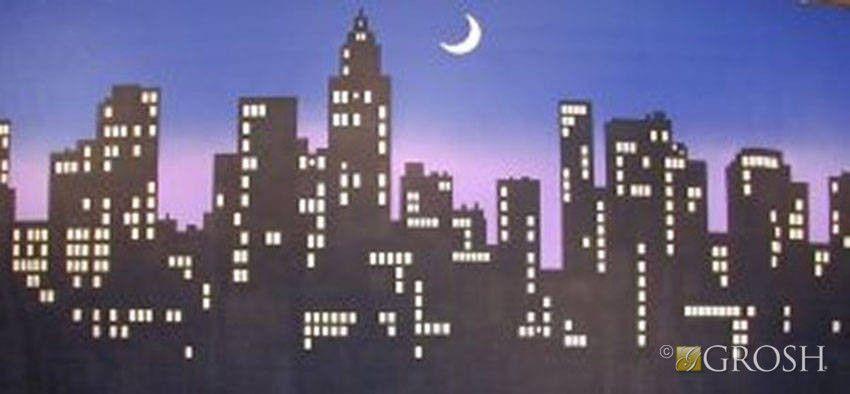 New York Skyline 6 City Backdrop City Skyline Silhouette Ny City Skyline