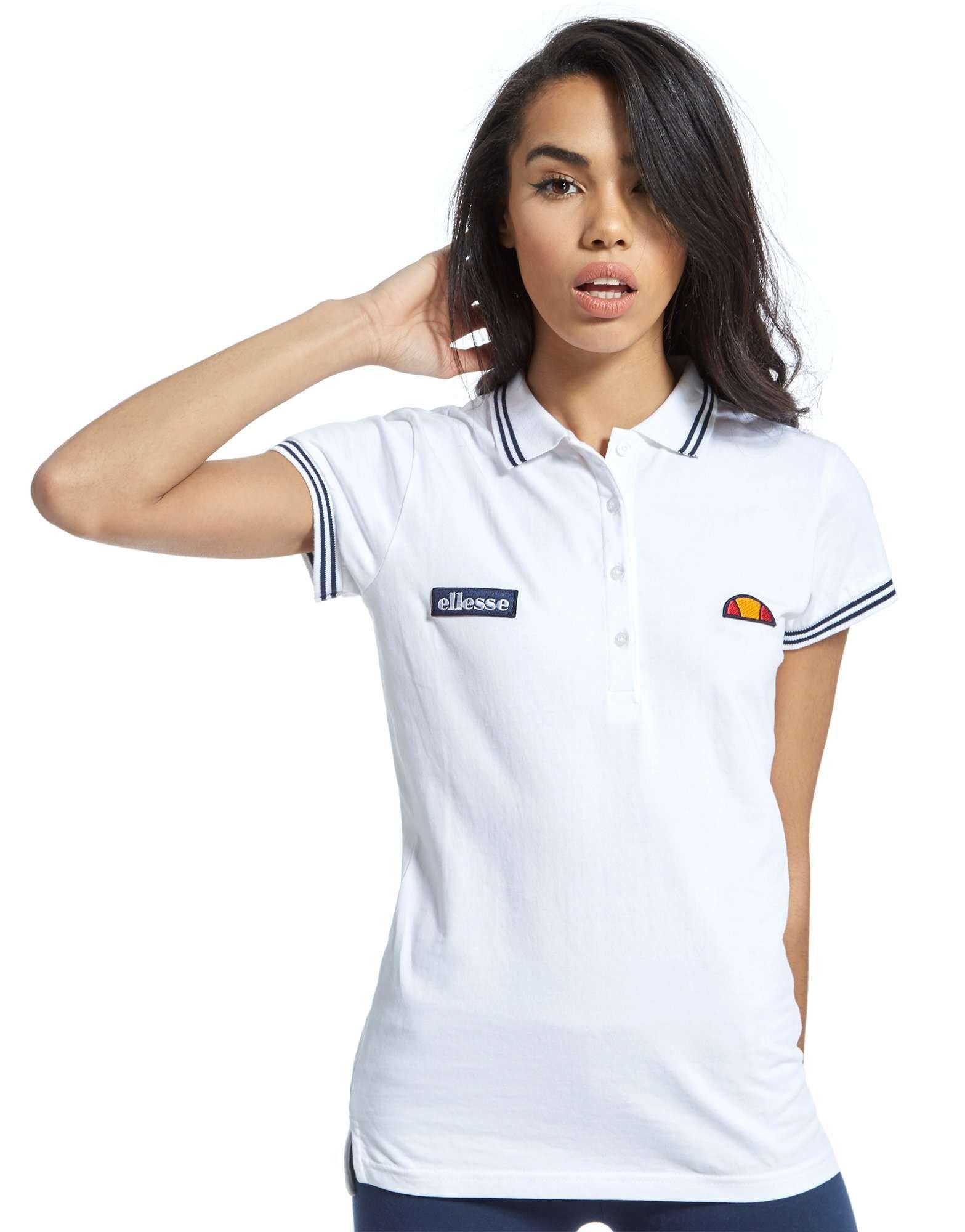 Ellesse t shirt white womens - White Pol T Shirt