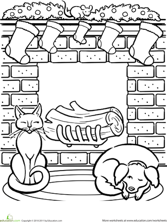 Christmas Fireplace Worksheet Education Com Christmas Coloring Pages Free Christmas Coloring Pages Cool Coloring Pages
