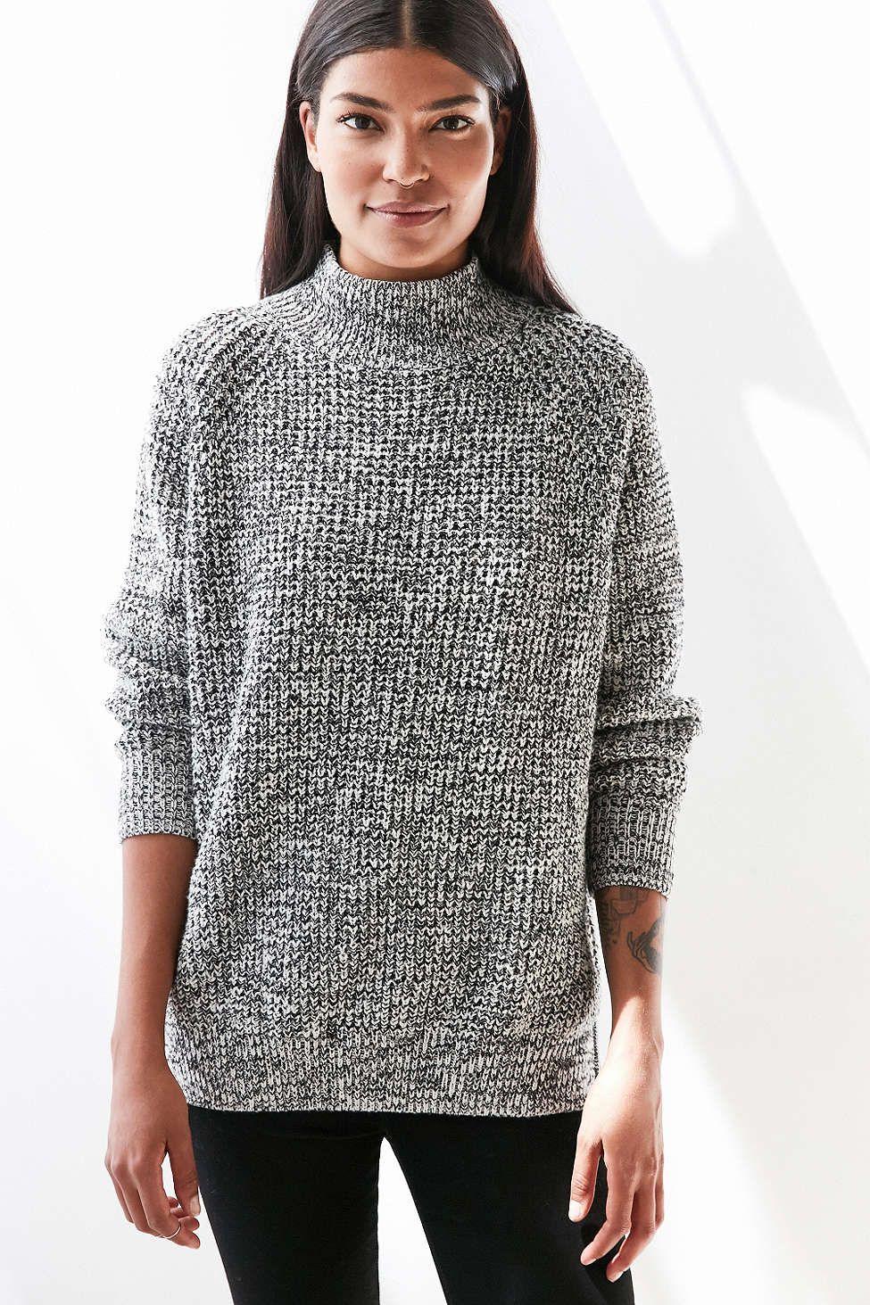 BDG Waffle-Knit Turtleneck Sweater | Waffle knit, Fall fashion ...