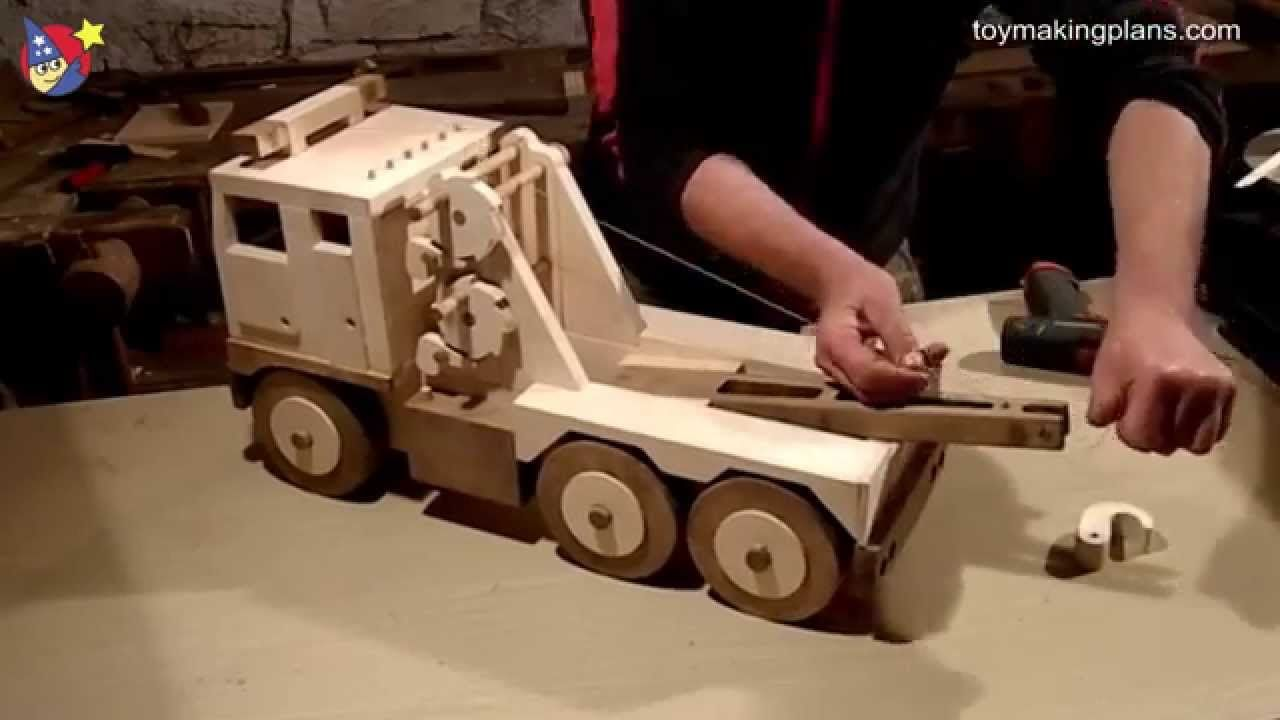 wood toy plans big rig wrecker truck youtube toys