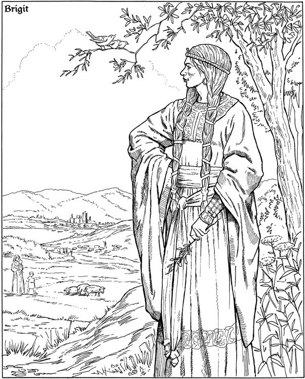 Pagen Kleurplaten Elf Warrior Elves And Adult Coloring Pagan Coloring Pages